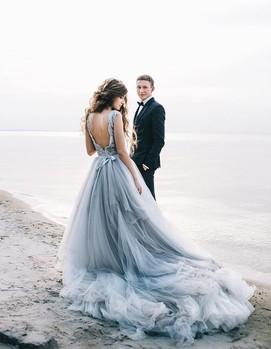 голубое платье для невесты