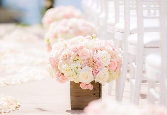 Розовое оформление свадьбы