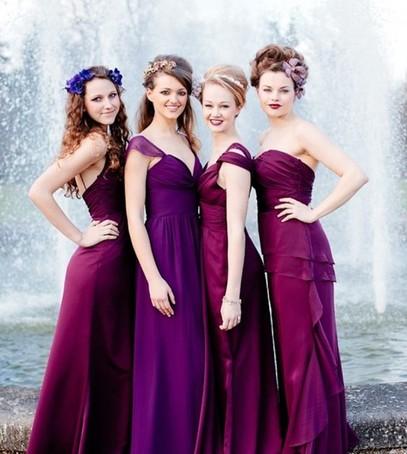 свадьба в бордовом цвете, сочетание фиолетового и бордового