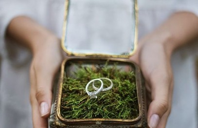 кольца молодожён, свадьба на природе, выездная церемония