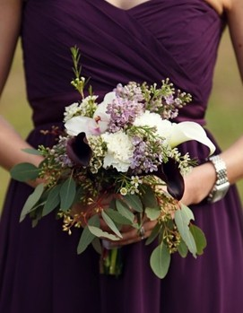 свадьба в цвете фуксия, темнолиловый