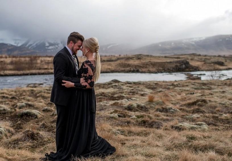 свадьба, чёрное свадебное платье, свадебная фотосессия, невеста в чёрном