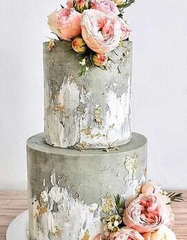 свадебный торт цветной