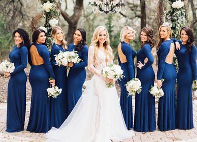 Цвет свадьбы – классический Синий
