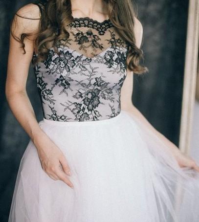 свадебное платье, чёрно-белое платье на свадьбу, тренд 2018. свадьба 2018