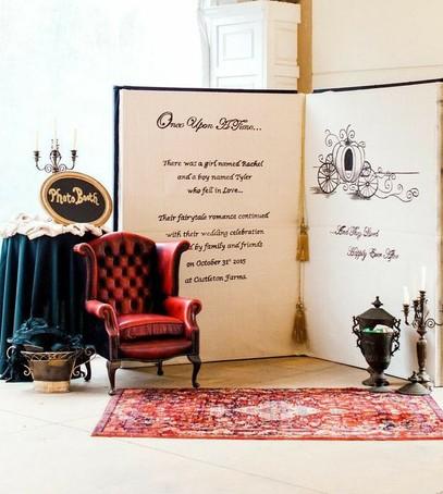 фотозона на свадьбу, красивый свадебный декор, оформление фотозоны на свадьбе, красное кресло, стенд