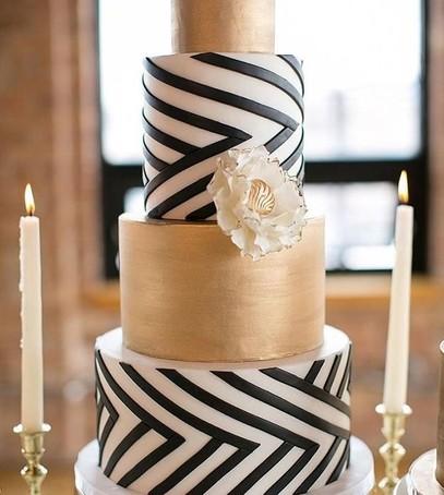 свадебный торт в стиле арт-деко, торт с геометрическими формами, многоярусный торт на свадьбу