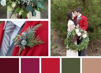 Свадьба в канун новогодних праздников: выбираем палитру!