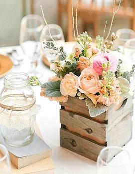 оформление стола в стиле шебби-шик