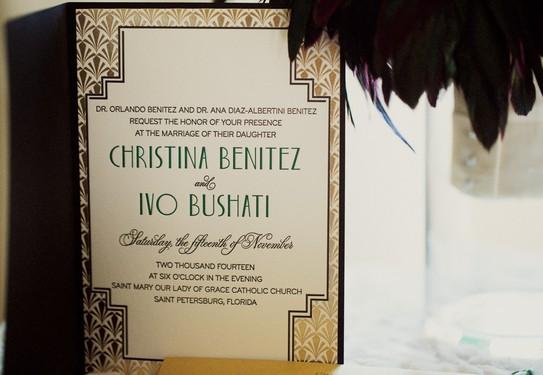 Приглашение на свадьбу Арт-Деко