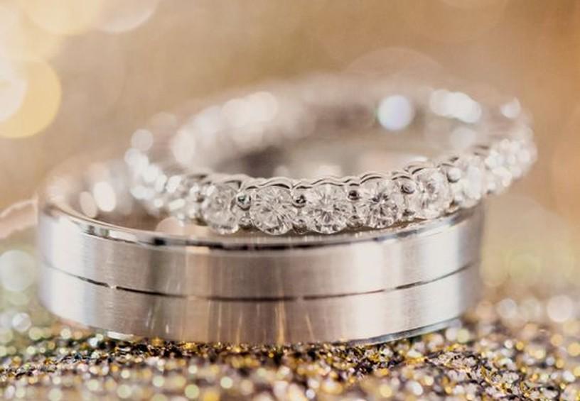 обручальное кольцо из драгоценных камней, тонкое кольцо невесты