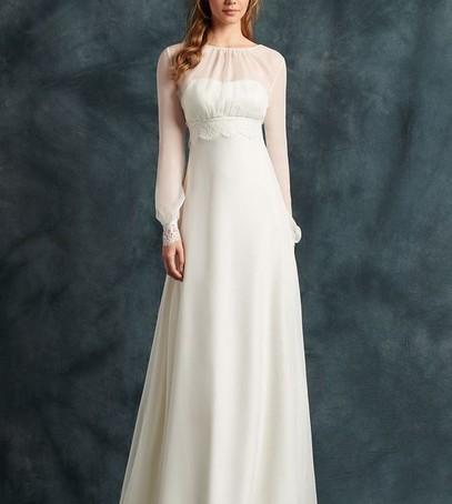 Свадебное платье с рукавами 2017