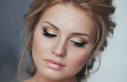 Свадебный макияж глаз