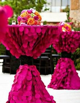 свадьба в цвете фуксия, свадебный декор в цвете фуксия