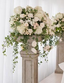 свадьба в греческом стиле , флористика на греческой свадьбе