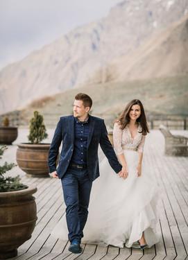 Красивые свадебные фотографии в горах