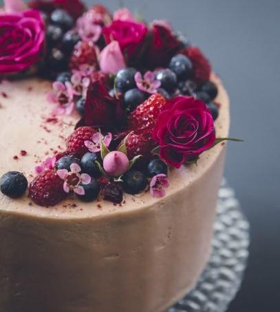 торт одноярусный, торт ягодный