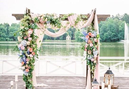 свадьба в стиле шебби-шик , выездная церемония