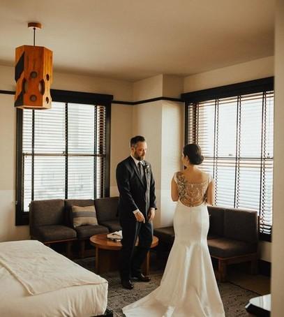 жених впервые видит невесту