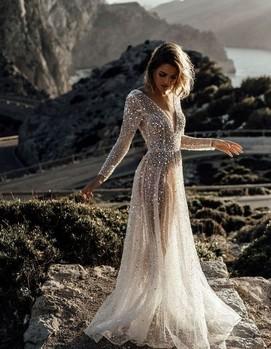 блестящее платье на свадьбу