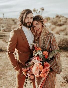свадьба платье бохо