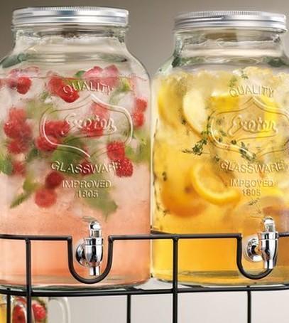 лимонады, напитки на свадьбу, свадьба на природе