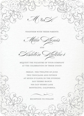 Пригласительные знаменитостей на свадьбу