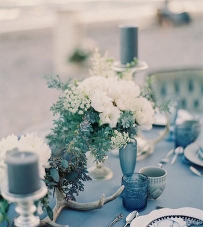 свадьба синий декор