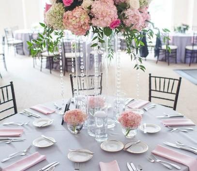 Свадьба в серо розовых тонах 73