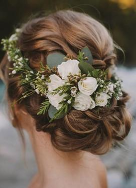 прическа невесты в стиле шебби-шик