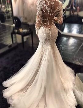 Свадебное платье русалка 2017