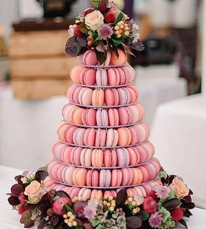 макаруны на свадьбу, альтернатива свадебному торту