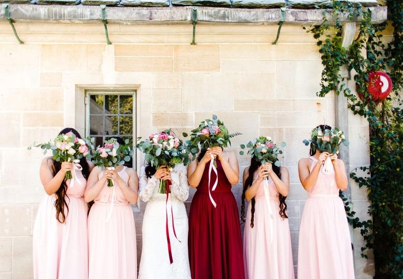 свадебная фотосессия, невеста, свадьба, рустик, бохо, летняя свадьба, подружки невесты, букет невесты и подружек невесты