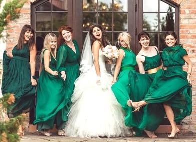Цвет свадьбы – изысканный Изумрудный