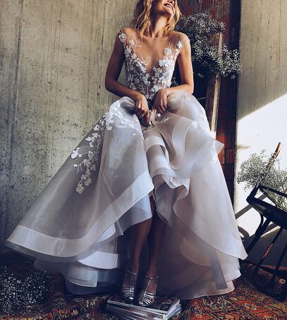 роскошное свадебное платье фото