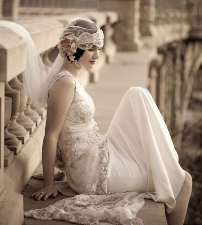 платье невесты в ретро стиле