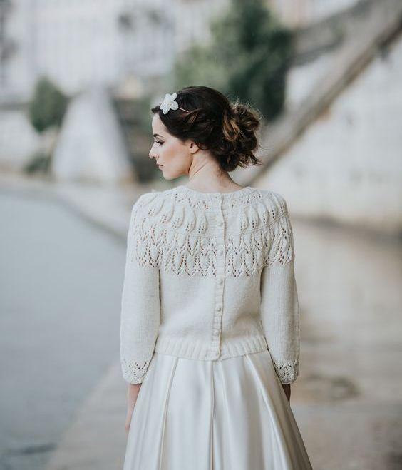fe7c791a34f Утепляем невесту  что надеть на свадебное платье