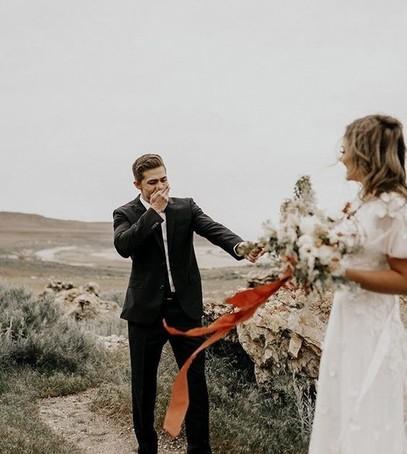 первый взгляд на свадьбе