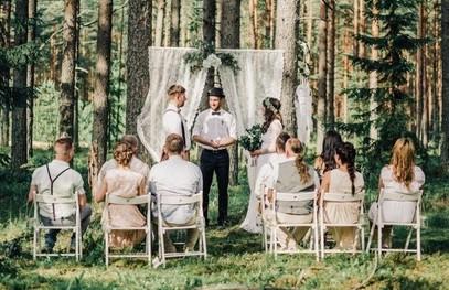 свадьба в лесу, выездная церемония