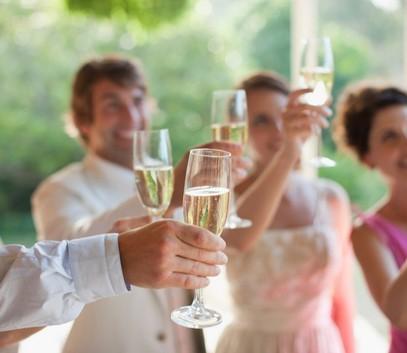 свадьба, шампанское