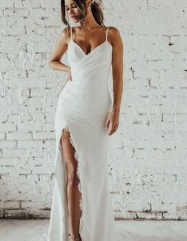 свадебное платье элегантное