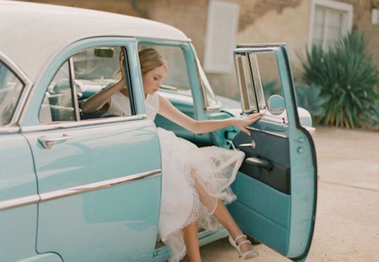 Свадебная машина голубой Тиффани