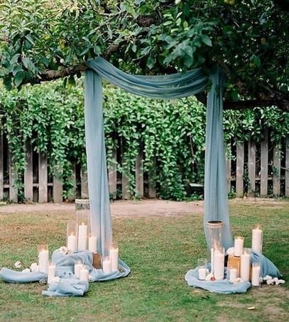 свадебная арка голубая