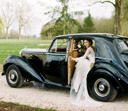 Ретро свадьба авто
