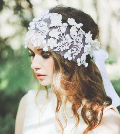 свадебная причёска, невеста в бохо стиле, свадебный образ