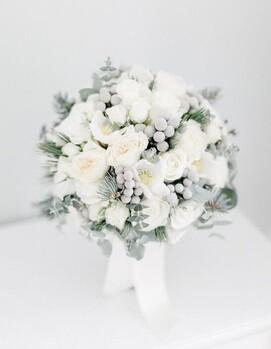 зимние цветы для свадебного букета