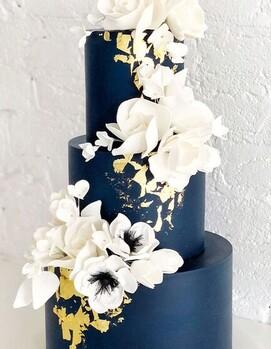 торт на свадьбу синий
