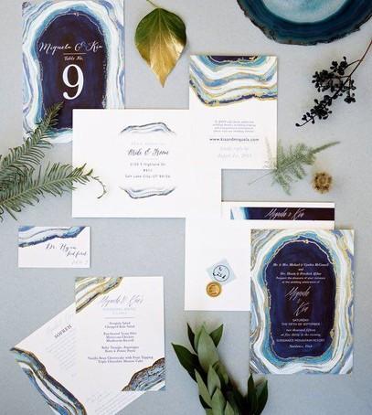 Пригласительные на свадьбу текстура камня агат