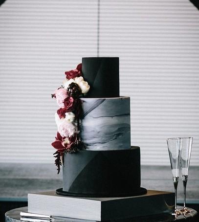 свадебный торт, чёрный торт свадебный, торт на свадьбу, 2018 торт, чёрный торт, мраморный торт
