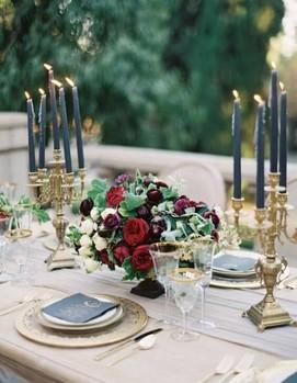 синяя палитра свадьба